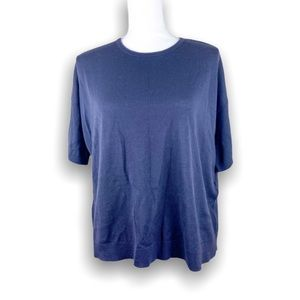 Eileen Fisher Short Sleeved Business Casual Blouse Top Size S